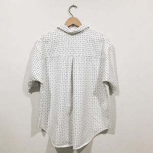 Madewell Tops - Madewell Patterned Short Sleeved Collared Shirt